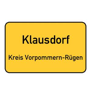 Ortseingangsschild Klausdaorf