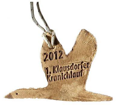Medaille zum 1. Kranichlauf im Jahr 2012